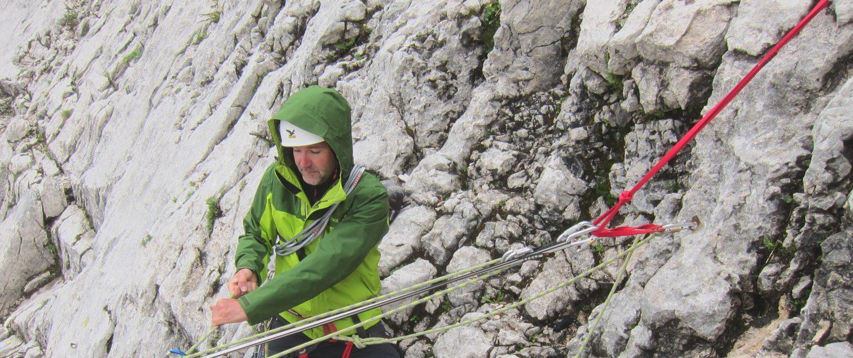Sichern beim Alpinklettern