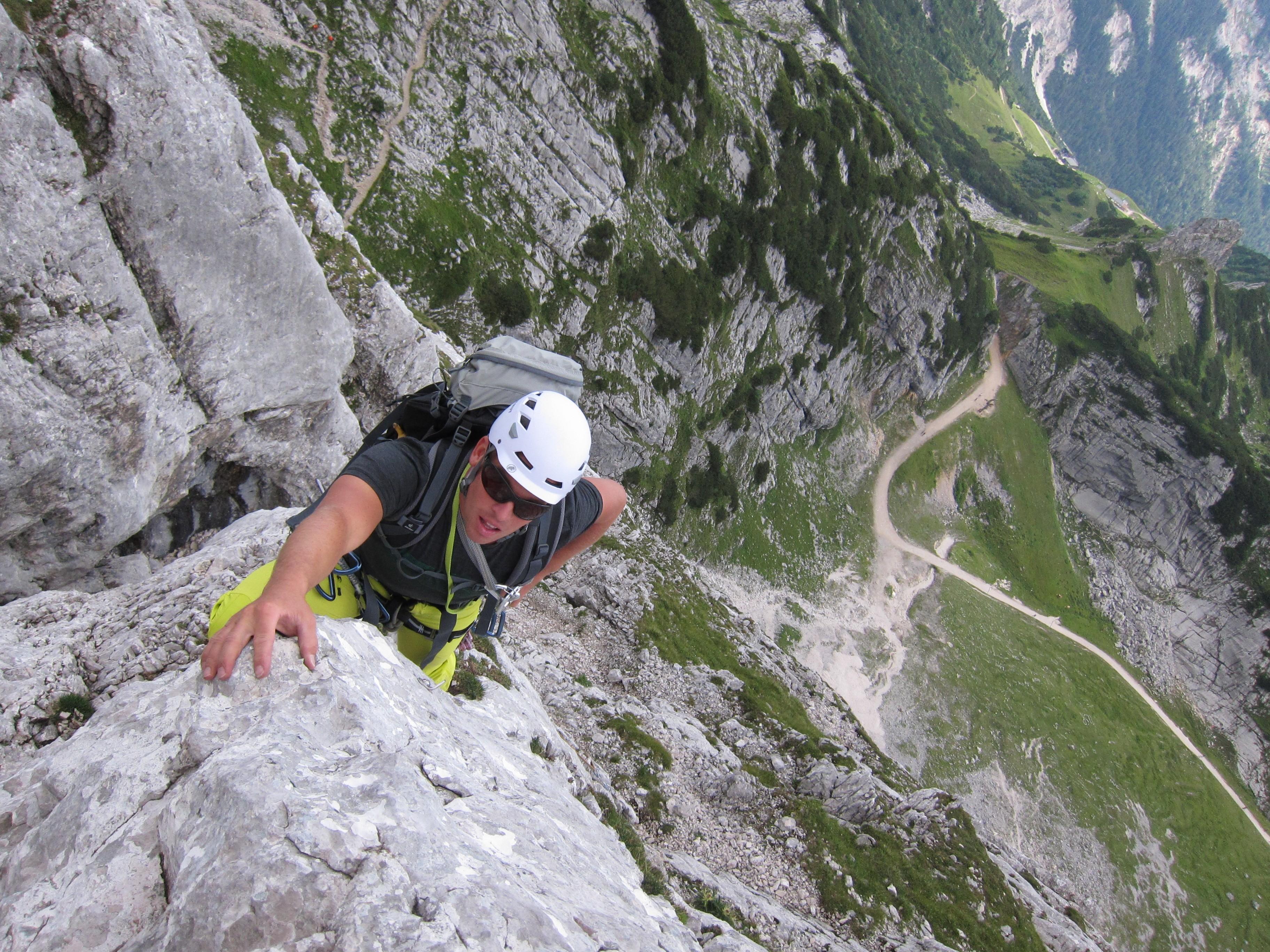 Klettersteigset Verleih Garmisch : Alpinkletterkurs für einsteiger die bergführer