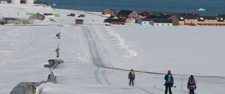 Skifahren bis ans Meer