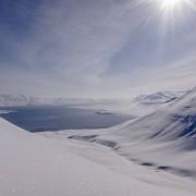 Skitour über dem Meer