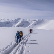 Skitour überm Meer