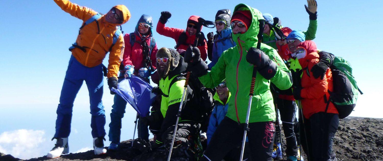 Skitourengeher Ätna