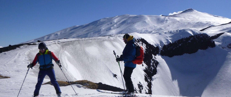 Skitour am Ätna