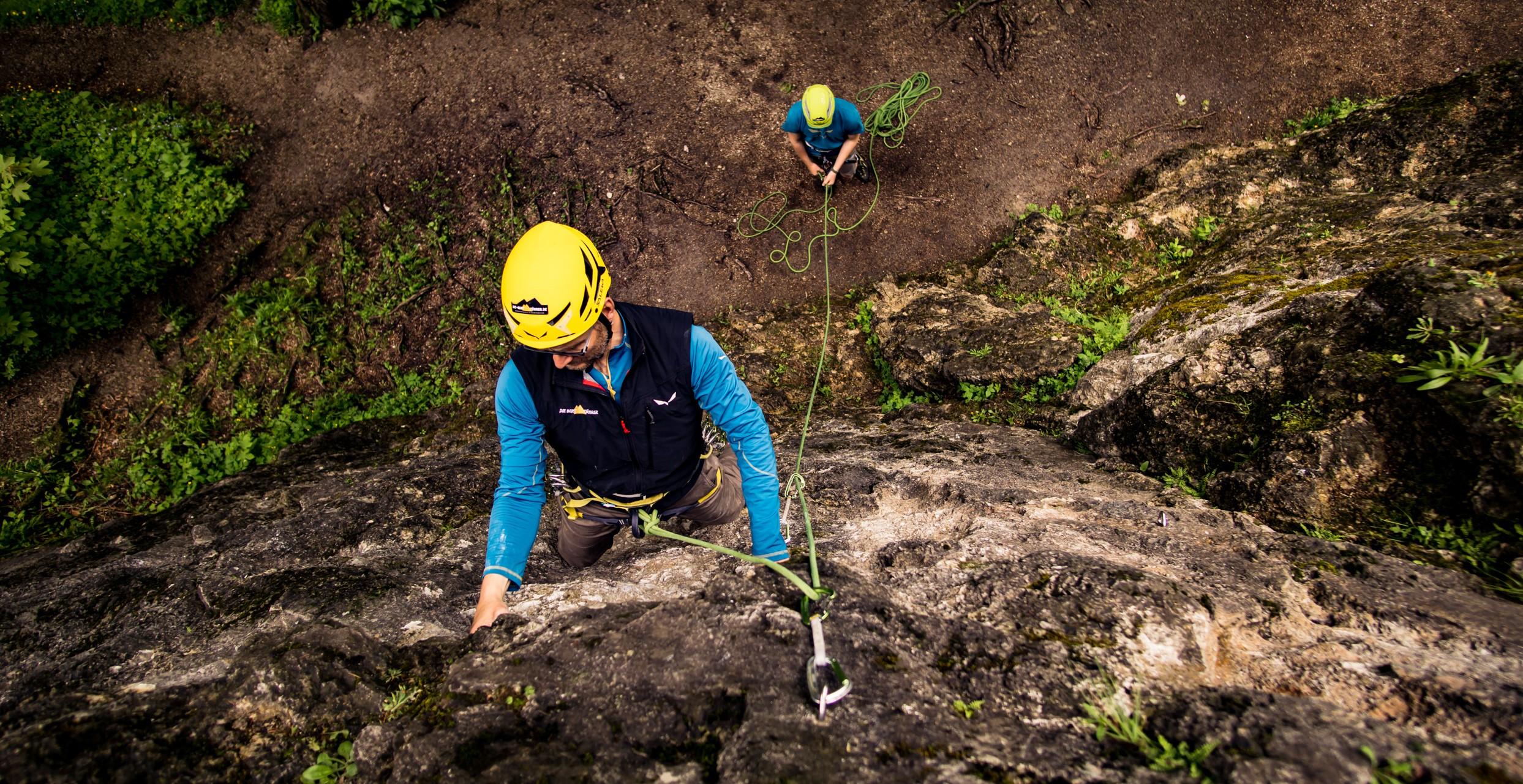Kletterausrüstung Einsteiger : Grundkurs klettern tages kletterkurs für einsteiger und
