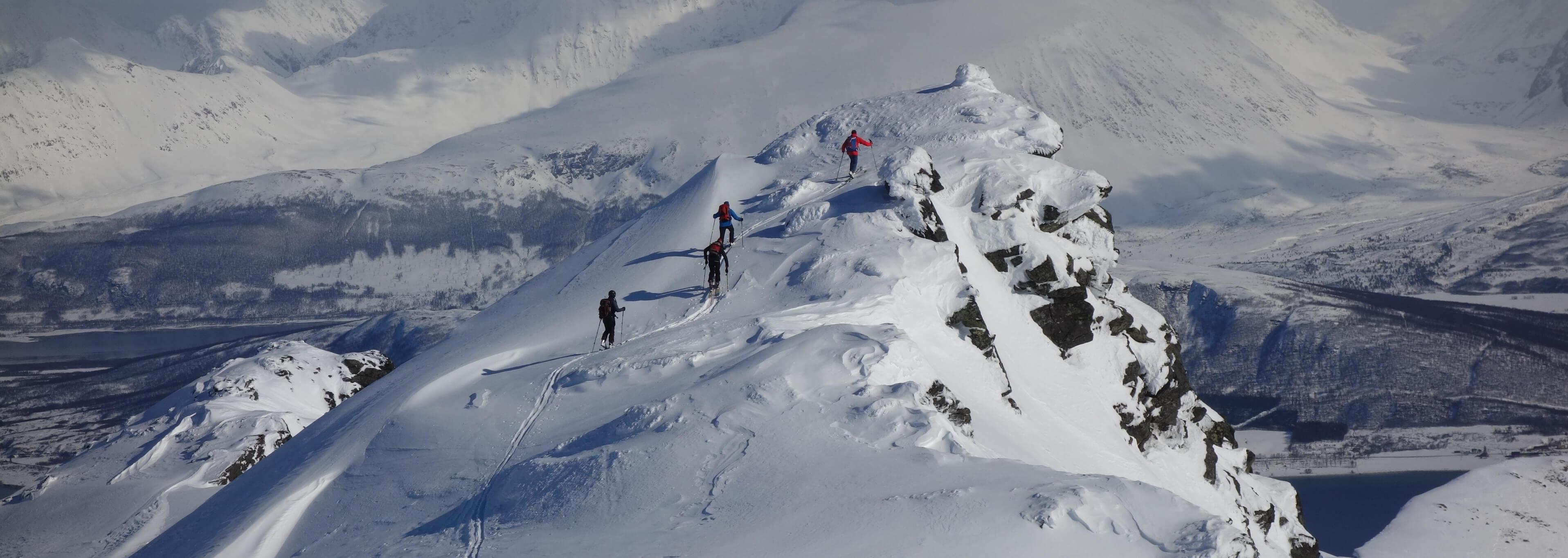 Norwegen Skitouren vom Schiff