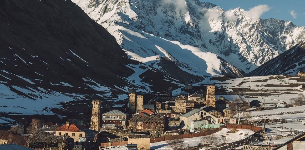 Hoch gelegene Dörfer Swanetien