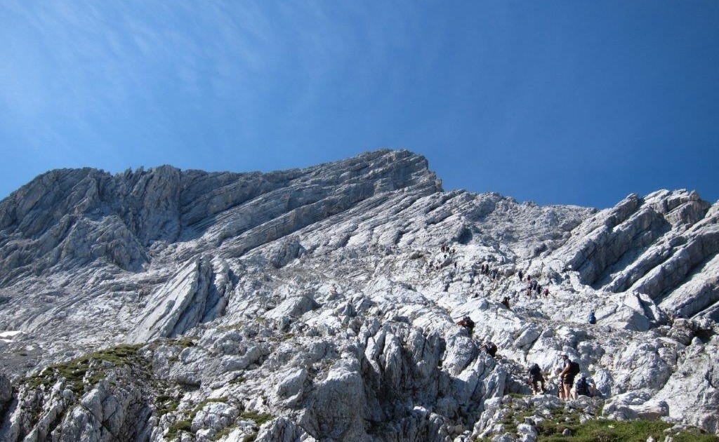 Blick in die imposante Nordwand