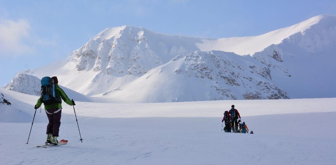 Einsame Skitouren Spitzbergen