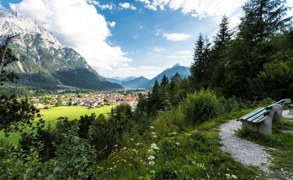 Etappenziel Mittenwald auf dem Spitzenwanderweg