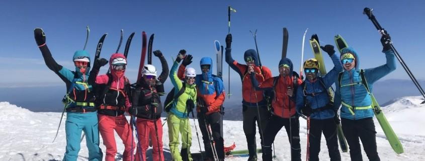 Unsere Skitourengruppe auf Kreta