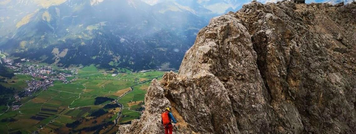 Am Seil zum Gipfel der Ehrwalder Sonnenspitze