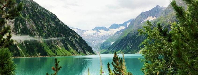 Schäner Ausblck zum Achensee während der Alpenüberquerung
