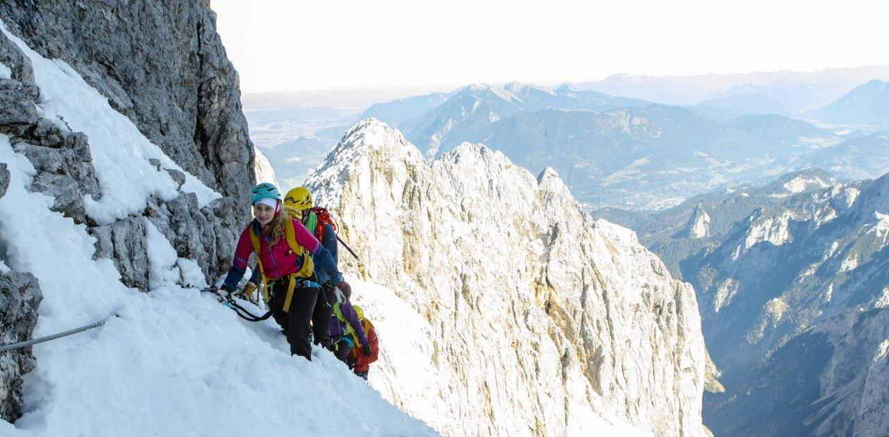 Im Spätherbst bei winterlichen Verhältnissen auf die Zugspitze via Höllental