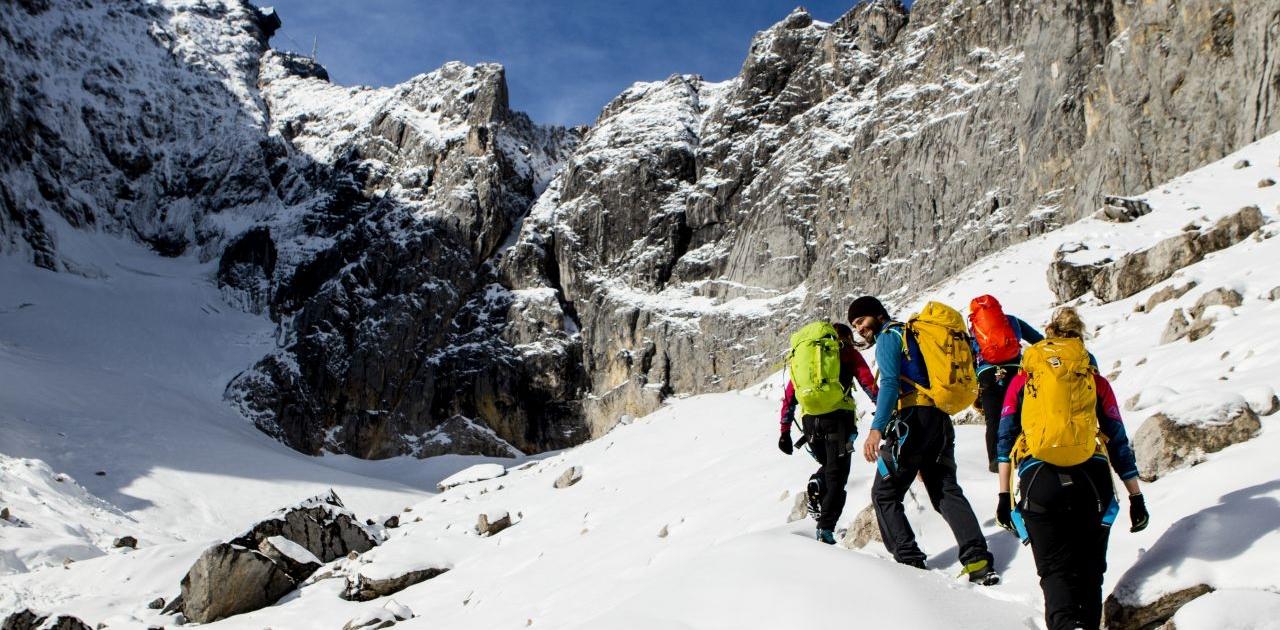 Kurz vor dem Gletscher am Klettersteig Höllental