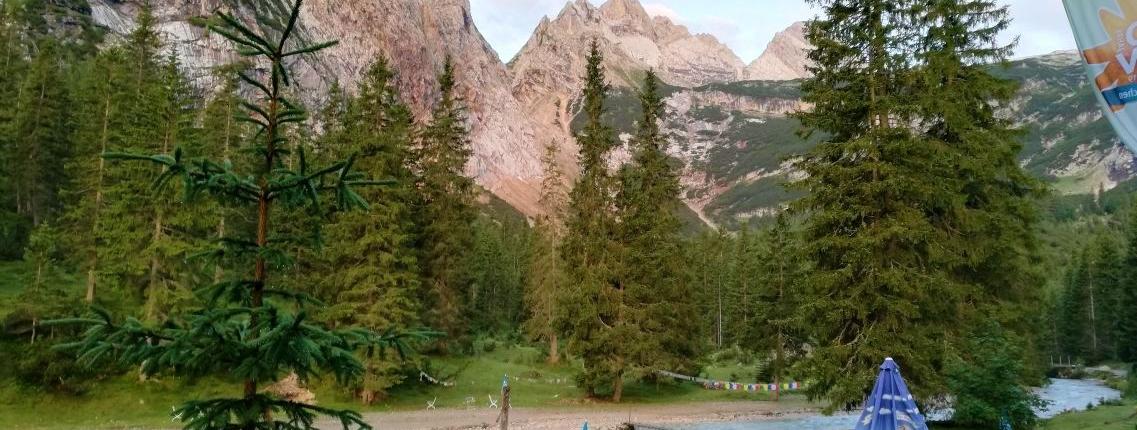 Blick Richtung Gipfel von der Reintalangerhütte
