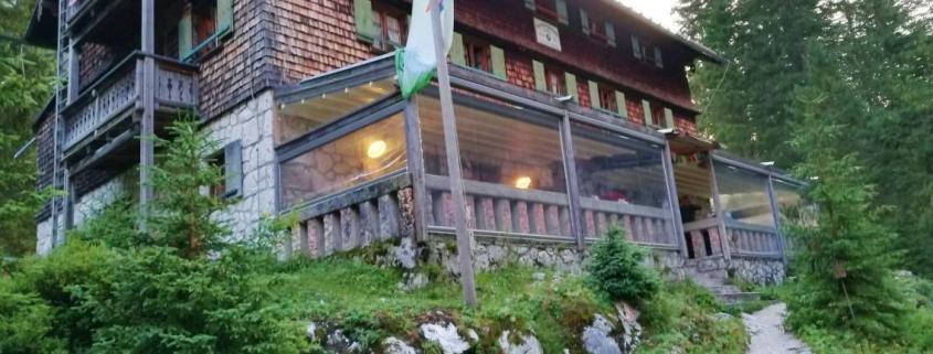 Unsere Hütte auf dem Weg zur Zugspitze