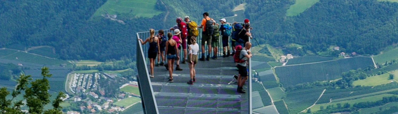 Schöne Aussichten haben wir auf der Alpenüberquerung Meran Lago di Molveno