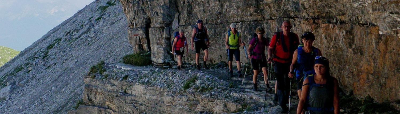 Spannende Wege in den Brenta Dolomiten
